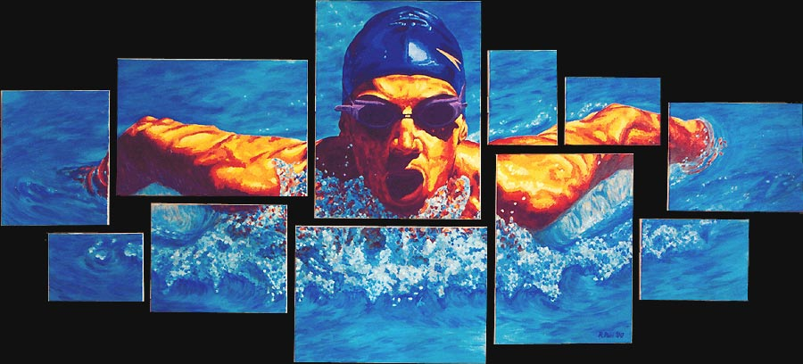 first image: the swimmer
